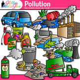 Pollution Clipart: Earth Conservation of Land Graphics {Glitter Meets Glue}