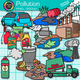 Pollution Clip Art {Earth Conservation of Land, Water, & Air, Science Resources}