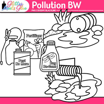 Pollution Clip Art Earth Conservation Of Land Graphics Bw Glitter