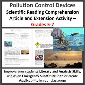 Pollution Control Devices - Reading Article - Grades 5-7