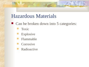 Pollution - Hazardous  Materials