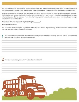 Pollution Lesson Investigation {Editable}