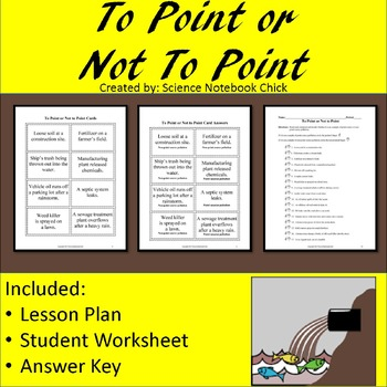 Point Source And Non Point Source Pollution By Science Notebook Chick
