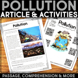 Pollution Reading Passage & Comprehension Activities
