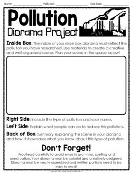 Pollution Research Project {Research Activity & Diorama}