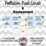 Pollution Task Cards and Worksheets