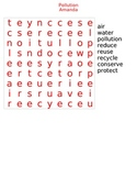 Pollution Word Search