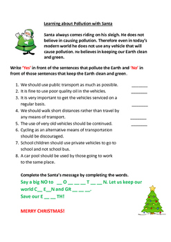 Pollution and Santa