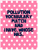 Pollution vocabulary match