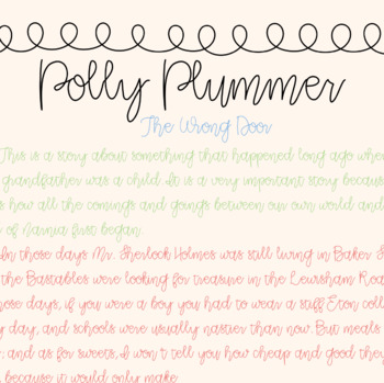CLR Polly Plummer Font and License