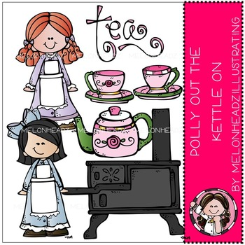 Polly Put the Kettle on clip art - COMBO PACK- by Melonheadz