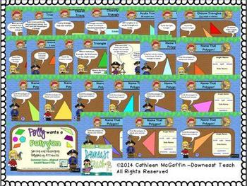 """""""Polly Wants a Polygon"""" Geometry SmartBoard File with Printables"""