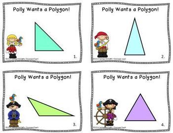 """""""Polly Wants a Polygon"""" Geometry Task Cards Set 1: Classifying Triangles"""