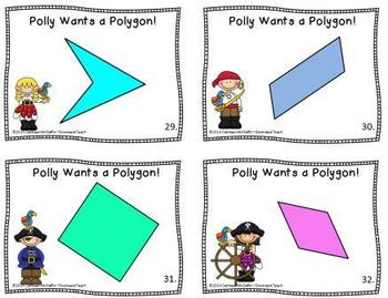 """""""Polly Wants a Polygon"""" Geometry Task Cards Set 2: Classifying Quadrilaterals"""