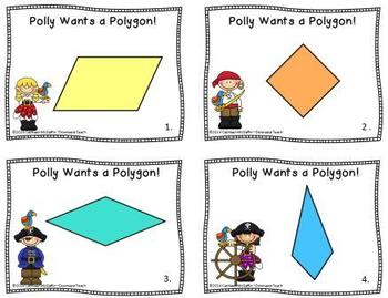 """Polly Wants a Polygon"" Geometry Task Cards Set 2: Classifying Quadrilaterals"