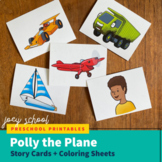 Polly the Plane Story + Coloring Sheets