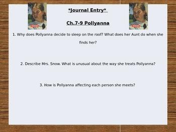 Pollyanna Journal Questions