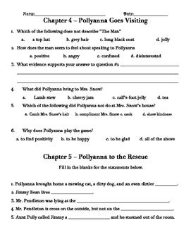 Pollyanna Novel Study