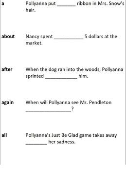 Pollyanna - Spelling in Context