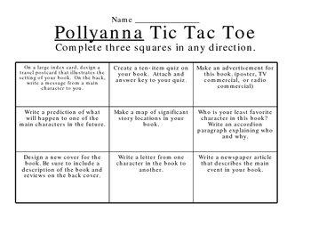 Pollyanna Tic Tac Toe
