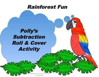 Polly's Subtraction Roll & Cover Activity