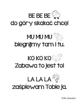 Polski Wiersz Logopedyczny: BE BE BE