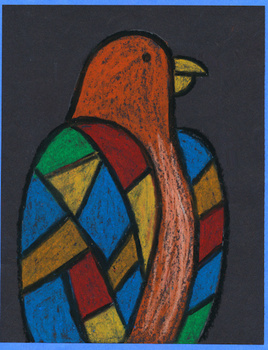 Polly the Parrot – Elementary Art Project - Step-By-Step