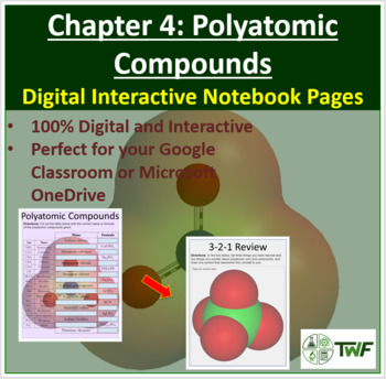 Polyatomic Compounds - Digital Interactive Notebook Pages