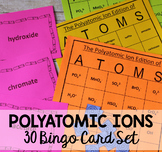 "Polyatomic Ion Chemistry Bingo ""ATOMS"" Game"