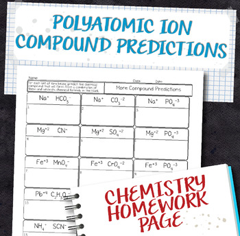 Polyatomic Ions Teaching Resources  Teachers Pay Teachers
