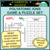 Polyatomic Ions Puzzle and Game Set