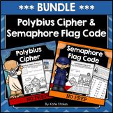 Polybius Cipher & Semaphore Flag Code BUNDLE | Printable &