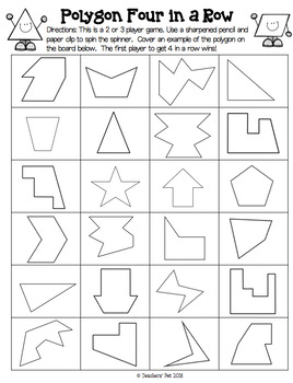 Polygon Activities: Identifying and Naming Polygons with 3 - 10 sides