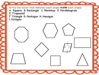Polygon Analysis: Common Core Standards 4.G.1. & 4.G.2