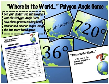Polygon Angle Game: Where in the World…?