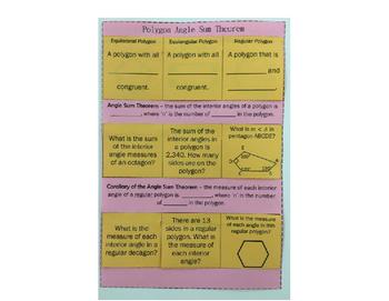 Polygon Angle Sum Theorem Notes