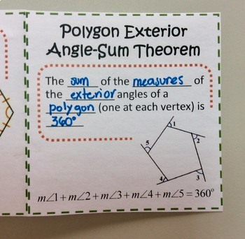 Polygon Angle-Sum Theorems Foldable