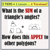 Polygon Angle Sums (3 versions!)