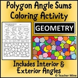 Polygon Angle Sums Coloring Activity