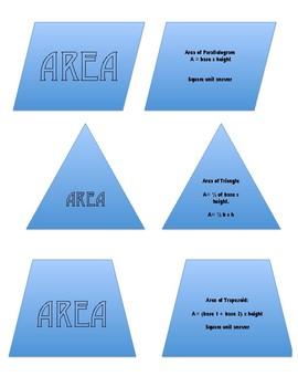 Polygon Area Formulas Interactive Notebook