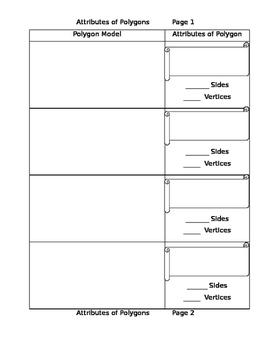 Polygon Attributes Graphic Organizer