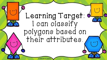 2D Shape Attributes of Polygons and Quadrilaterals PowerPoint Presentation 3.G.1
