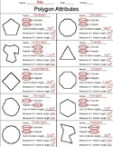 Polygon Attributes Worksheet