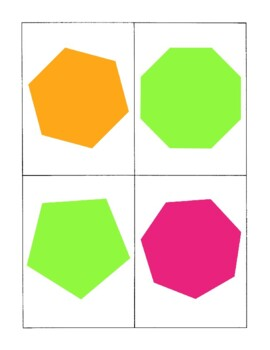 Polygon Basic Shapes Geometry Cards Games Activities PDF Printable
