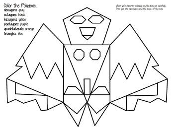 polygon bat coloring page polygon bat coloring page