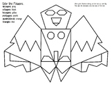 Polygon Bat Coloring Page