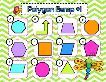Polygon Bump-Polygons with 10 or Fewer Sides