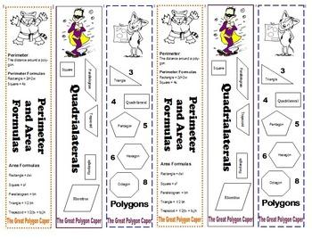 Polygon Caper Bookmarks
