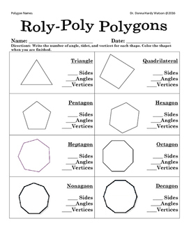 polygon cards and worksheet by donna watson teachers pay teachers. Black Bedroom Furniture Sets. Home Design Ideas