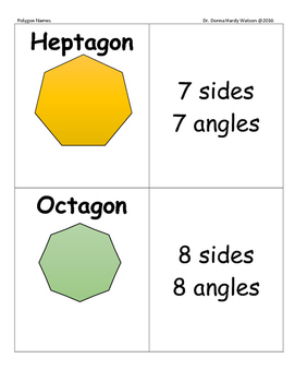 Polygon Cards and Worksheet